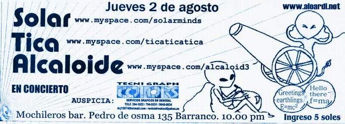 CONCIERTO / SOLAR  / TICA  / ALCALOIDE